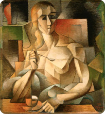 Jean Metzinger, Le goûter, Tea Time, 1911, 75.9 x 70.2 cm, Philadelphia Museum of Art