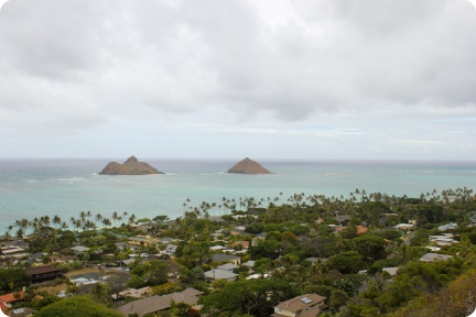 Lanikai from above