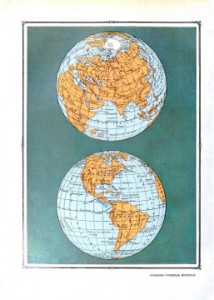 vintage worldmap