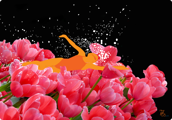 swimmer_in_tulips